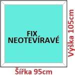 Soft Plastové okno 95x105 cm, FIX neotváravé
