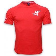 AF tričko SLIMFIT tyrkysové-čierne