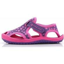 ALPINE PRO Dievčenské sandále Punit fialovo-ružové