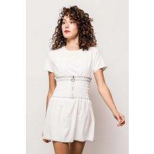 4a73800ba843 Krátke biele letné šaty