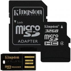 Kingston G2 microSDHC 32GB class 4 + adapter + USB čítačka MBLY4G232GB