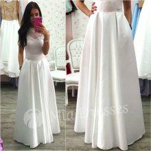 Dámska dlhá sukňa biela
