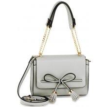 d25a7e6dfd Crossbody kabelka s mašličkou Nicole sivá