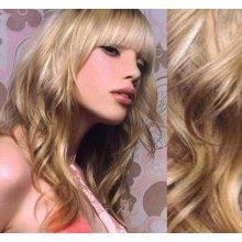 Clip in vlnité vlasy pravé ľudské REMY 53 cm - platina svetlo hnedá 7562a3ae5cc