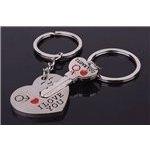 Kľúčenka pre dvoch I LOVE YOU srdce kľúč F346-1