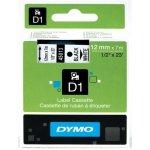 DYMO páska D1 12mm x 7m, čierna na bielej 45013