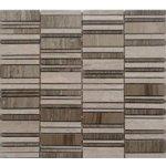 Premium Mosaic Stone Mozaika kamenná mix šedá 2,5x7 cm
