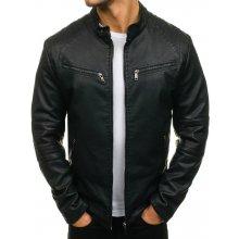 598df02e9d27 pánská kožená bunda JP-1032 tx 1716 J.Boyz černá