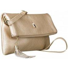b0a1e52dcc Wojewodzic Upraviť produkt listová kožená kabelka malá crossbody a do ruky  zlatá 31782