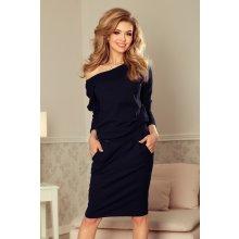 2232fcff39a8 NUMOCO Bavlnené dámske šaty 189-6 - tmavomodré