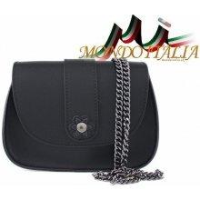 Made In Italy kožená kabelka na rameno 661 čierna cb40c87964a