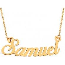 fabbd1f331 iZlato Forever Zlatá retiazka s menom Samuel IZ9075