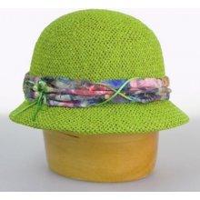 ef7691848 Karpet dámsky klobúk papierový zdobený čipkou zelený