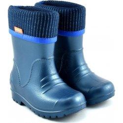 aad696456e2e DEMAR Chlapčenské gumáky DINO D1 modré zateplené od 13
