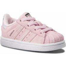 Adidas Originals SUPERSTAR EL I Ružová   Biela 57803400bbc