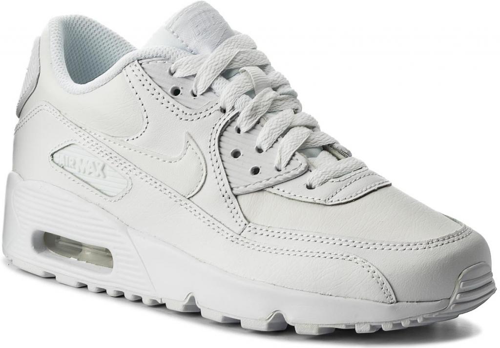 Nike AIR MAX 90 LEATHER GRADE SCHOOL biela od 105 084875340fe