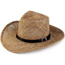 9b40ed9b7 Slamený / kovbojský klobúk prírodný