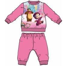 Disney by Arnetta dievčenské pyžamo Máša a Medveď ružové