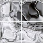 Dimex, keramické obklady - abstrakt strieborný - 40 x 40 cm