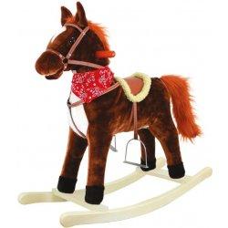 Bino Vraník Hojdací koník plyšový so zvukmi a pohybmi, stredný