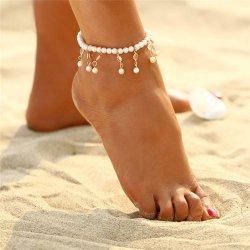 12d709bc3 TrendyVeci Trendový náramok na nohu s umelými perlami TV729 od 6,60 € -  Heureka.sk