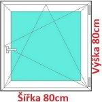 Soft Plastové okno 80x80 cm, otváravé a sklopné