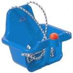 DOHANY Detská hojdačka s pískatkom svetlo modrá