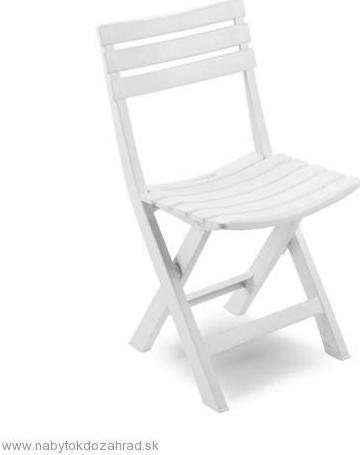b6572dfaf014 Záhradná stolička a kreslo Skladacia stolička BIRKI biela ...