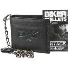 61c38cc2c0 Greenburry Kožená pánska peňaženka Black Wings s reťazou