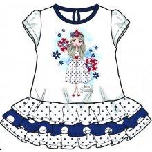 b3d2be9904e3 Mix  n Match dívčí šaty biela modrá
