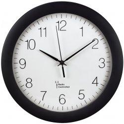 nástenné hodiny PG-300, riadené rádiovým signálom, čierne
