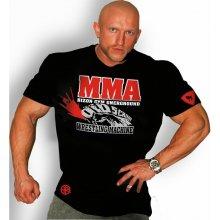 Bizon Gym Triko S Červeným Nápisem MMA