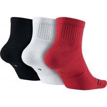 ponožky JORDAN 3 páry čierne biele červené AIR DRI FIT JUMPMAN CREW 3PPK  SX5544 9cbfddd5efc
