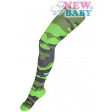 New Baby bavlněné pančucháčky s maskáčovým vzorom zelené