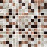 Premium Mosaic Mozaika bielo-hnedý mix s perleťou 2x2 cm