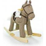 Hojdací koník Milly Mally Pony béžový kockovaný