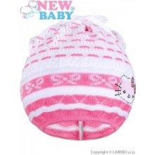 18d6faf8940 Pletená čiapočka šatka New Baby mačička ružová