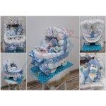 Darčeky-Bambi Plienková torta kočík modrý