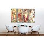Obraz na plátne 4 dielny ŠTYRI ROČNÉ OBDOBIA 120x70 cm – Alfons Mucha 000 REP236