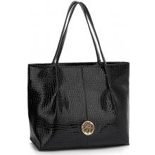 2be70143a0 luxusná lakovaná kabelka Juliane čierna