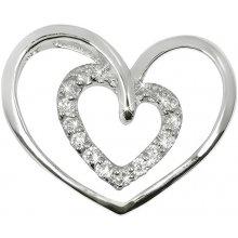 Brilio Silver Strieborný prívesok Dvojité srdce 446 154 00171 04 89f587a635d