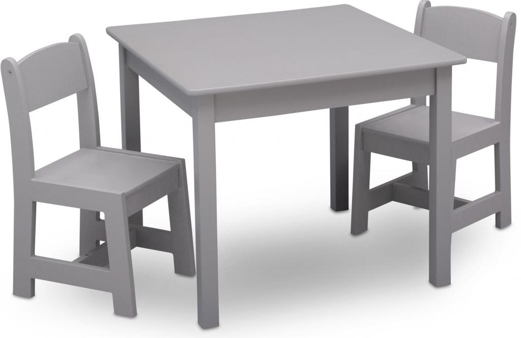 844544b1dd93 Detské stoly a stoličky Delta Detský stôl so stoličkami sivý ...
