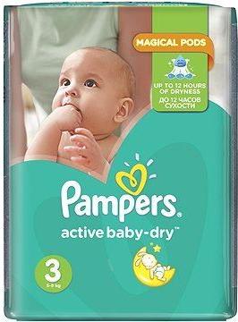 Pampers Active Baby 3 Midi 5-9 kg 208 ks