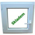 Soft plastové okno 60x60 cm biele, otevíravé a sklopné