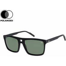 9acc218bd QuikSilver Brigade matte black Mineral Glass Polarized green 18