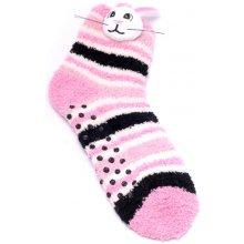 Attractive Teplé ponožky, 2 páry CHAUSSONS CHAUSSETTES 12 KFA005 RABBIT + 12 KFA006 SHEEP - LOT DE 2
