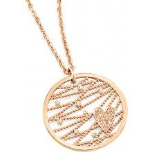 Morellato Pozlátený náhrdelník Cuoremio Rose SADA01