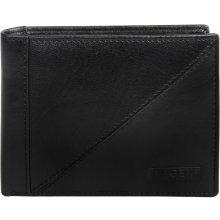 940ad886e2fc Lagen pánska černá kožená peňaženka Black W-8154-1
