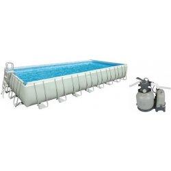 INTEX Bazén Frame Pool Set Ultra Quadra 732 x 366 x 132 cm, filtrácia a schodíky 28366NP
