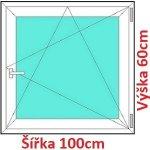 Soft Plastové okno 100x60 cm, otváravé a sklopné